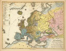 Ethnic Map Of Europe by Ethnic Map Of Europe In German 1847 Vivid Maps