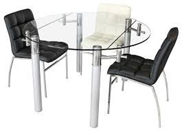 Extending Glass Dining Table And 8 Chairs Very Practical Expandable Glass Dining Table