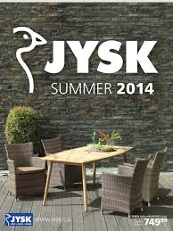 Jysk Home Decor Jysk Summer Catalogue 2014 Flyer February 26 To October 1 Canada