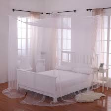 palace 4 post bed sheer panel canopy walmart com