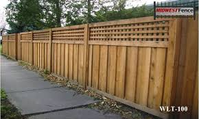 wood lattice wall lattice top wood privacy fences midwest fence
