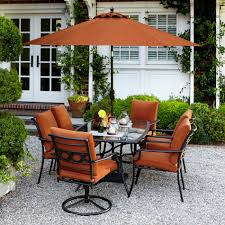 Patio Dining Set by Garden Oasis Rockford 7 Piece Dining Set In Orange Sears