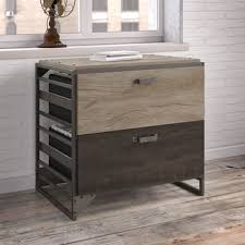 Lateral File Cabinet Kathy Ireland Office Ironworks Vintage Golden Pine Lateral File