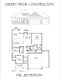 jefferson floor plan floor plans cherry ridge construction