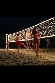 Backyard Volleyball Nets Night Time Volleyball Lit Volleyball Net B E A Uty Full