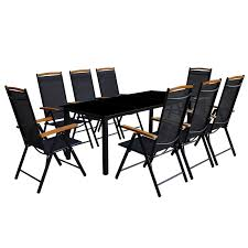 Argos Garden Table And Chairs Vidaxl Co Uk Vidaxl 9 Pcs Aluminium Garden Furniture Set 1 Table