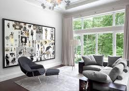 glass doors stainless steel handrail light grey living room small