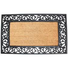 Rubber Cal Inc Wipe Your Rubber Cal Autumn Breeze 18 In X 30 In Coir Rubber Backed Door