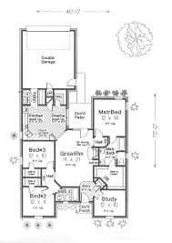 ebert narrow lot ranch home plan 036d 0140 house plans and more