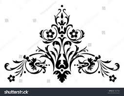 ornamental design digital artwork stock vector 1687986