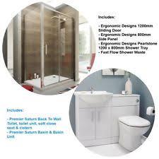 Shower Enclosure Bathroom Suites Vanity Bathroom Suites With Shower Enclosures Ebay