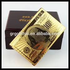 24k best sale us dollar cards in wooden box gold us dollar