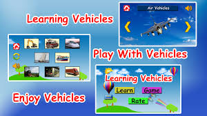 learn vehicles for kids android apps on google play