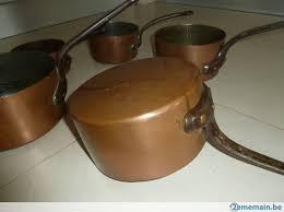batterie de cuisine en cuivre a vendre batterie de cuisine casseroles en cuivre 5 pièces a vendre