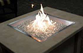 Propane Fire Pits With Glass Rocks by Fire Pit Recommended Gas Fire Pit Inserts Kits Square Chromed