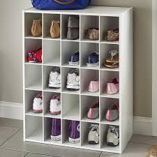 shoe organizer closetmaid 25 pair shoe rack reviews wayfair