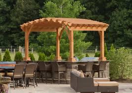 Pergola Post Base by Riviera Wood Pergola Amish Yard