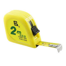 rs yellow 2m 6ft tape meter measuring tape scale metal capsule