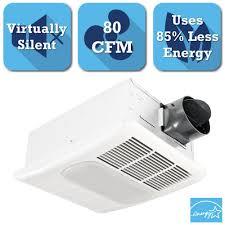 Bathroom Fan Cfm Panasonic Whisperceiling 80 Cfm Ceiling Exhaust Bath Fan Energy