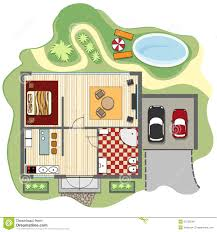 floor plan of house stock vector image 52733548