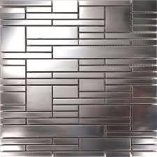 1sf stainless steel brushed nickel pattern mosaic tile kitchen