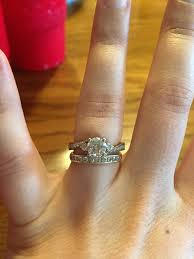 groove culture wedding band uneven engagement ring with wedding band gap pictures