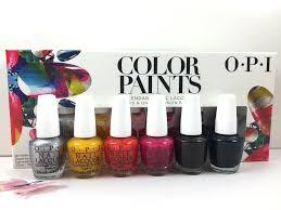 color paints nail lacquer mini set color paints