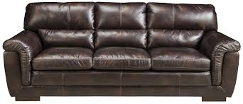 Ashley Furniture Zelladore Canyon Contemporary Faux Leather Sofa