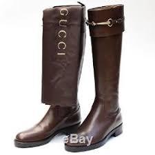 womens designer boots gucci sz 36 6 womens brown designer leather horsebit