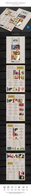 photoshop menu template best 25 restaurant menu template ideas on menu