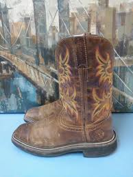 justin work boots for men size 7 d cowboy boots wk 4681