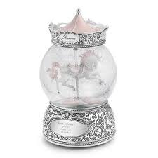 personalized carousel snow globe gift furniture