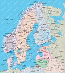 Map Sweden Norway Sweden Finland Denmark Map Illustrator Mountain High