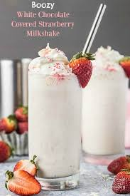 White Chocolate Covered Strawberries By White Chocolate Covered Strawberry Boozy Milkshake No Spoon