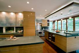 bamboo kitchen cabinets kitchen modern with backlighting ceiling