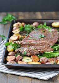Healthy Steak Dinner Ideas Sheet Pan Flank Steak With Crispy Potatoes And Broccolini The