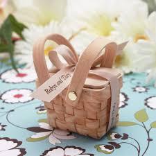 theme wedding favors mini woven picnic baskets 6 pcs garden theme wedding favors