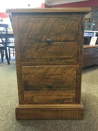 rough sawn new cypress 2 drawer file cabinet in whisky baton