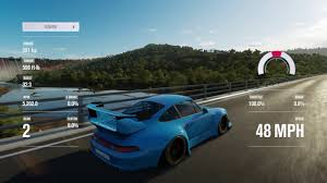 rwb porsche blue forza horizon 3 rwb porsche gameplay youtube