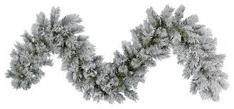 frosted pine artificial garland unlit 9 x14
