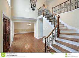 foyer in new construction home royalty free stock photo image