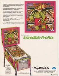 incredible hulk pinball machine gottlieb 1979 pinside