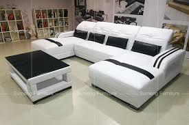 L Shape Sofa Set Designs 2017 Latest Fancy Living Room Furniture Double Chaise L Shape Sofa
