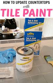 Can You Paint Bathroom Tile In The Shower Painting Tile A Tutorial From Painting Bathroom Tiles