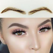 019 human hair eyebrow extensions hair thick false eyebrows set
