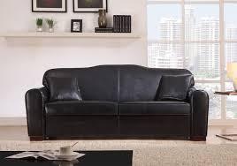 canapé simili cuir noir canapé convertible pas cher en simili cuir noir barletta