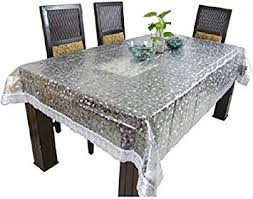 Online Shopping For Dining Table Cover Buy Kuber Industriestm Dining Table Cover Transparent 3d 6 Seater