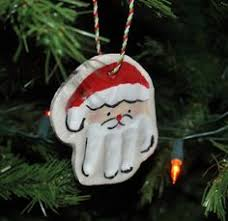 salt dough print ornaments