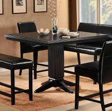Kitchen Bar Table Ideas by Kitchen Full Black Tall 2017 Kitchen Table With Black Leather