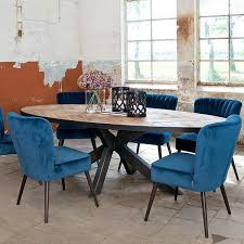 Blue Upholstered Dining Chairs Luxe Daley Upholstered Dining Chair Modish Living